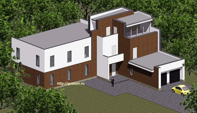 Проект двухэтажного дома из газоблоков купить Панц9
