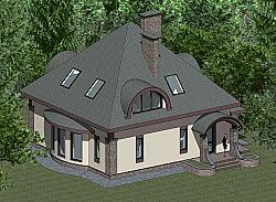 Проект двухэтажного дома площадью 156 м2 Панц31 ум