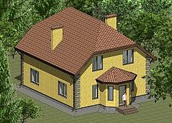 Проект двухэтажного дома площадью 165 м2 Панц29 ум