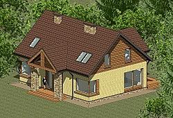 Проект двухэтажного дома площадью 173 м2 Панц25 ум