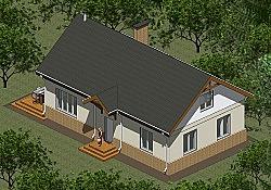 Проект двухэтажного дома площадью 173 м2 Панц26 ум