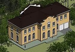 Проект духэтажного дома Панц7 площадью 509 м2 ум