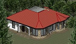Проект одноэтажного дома площадью 109 м2 Панц35 ум