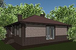 Проект одноэтажного дома площадью 132 м2 ум