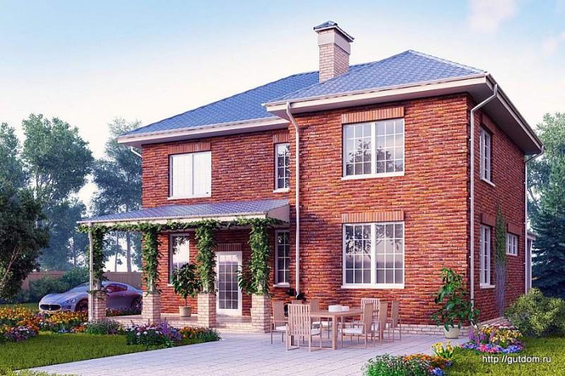 Проект Ytong двухэтажного дома ГБ86 площадью 161 м2