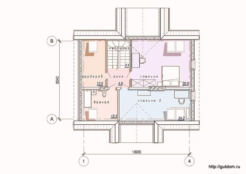 Планировка второго этажа