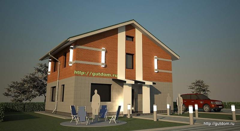 Проект двухэтажного дома из газоблоков площадью 138 м2 Крас1