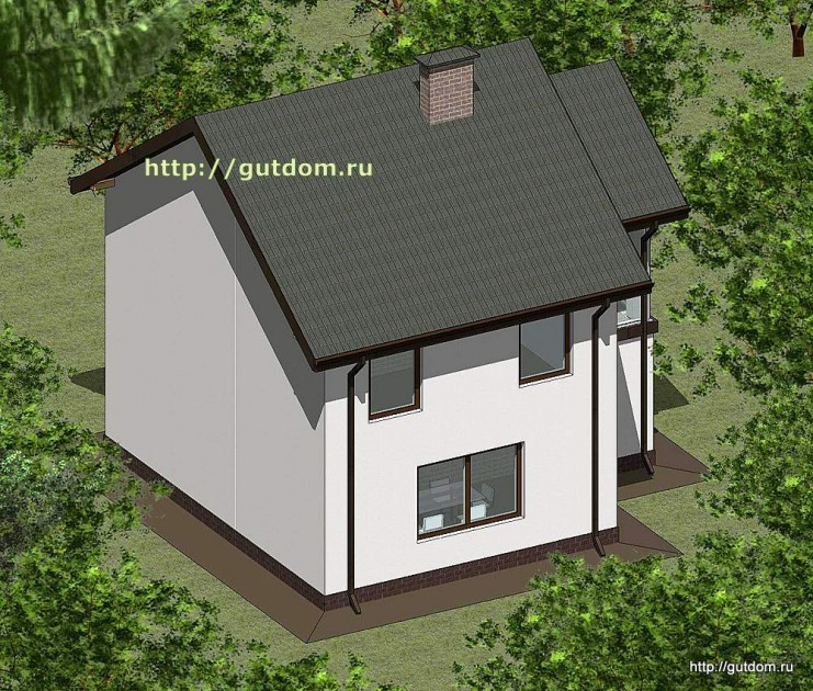 Проект двухэтажного дома площадью 107 м2 Панц37 эскиз 2