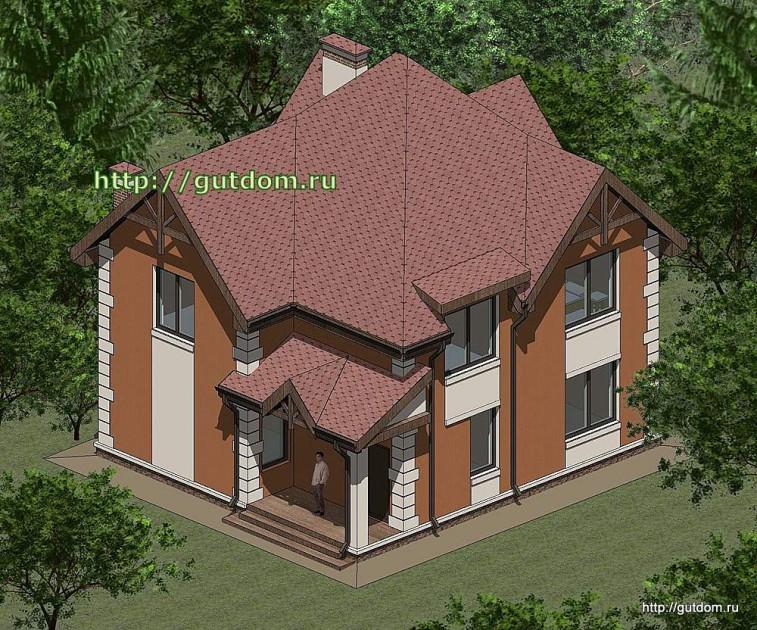 Проект двухэтажного дома площадью 135 м2 Панц33