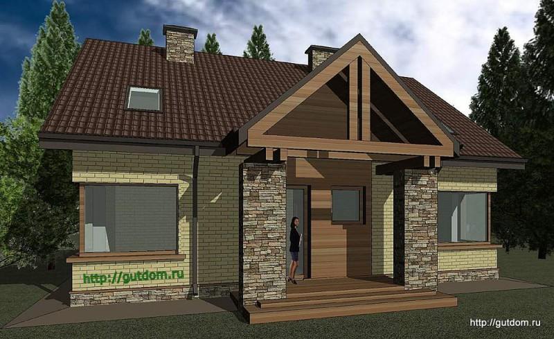 Проект двухэтажного дома площадью 173 м2 Панц25 эскиз 2