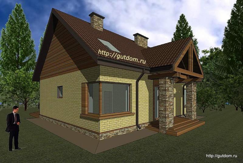 Проект двухэтажного дома площадью 173 м2 Панц25 эскиз 4