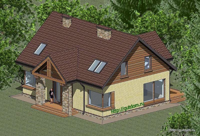 Проект двухэтажного дома площадью 173 м2 Панц25