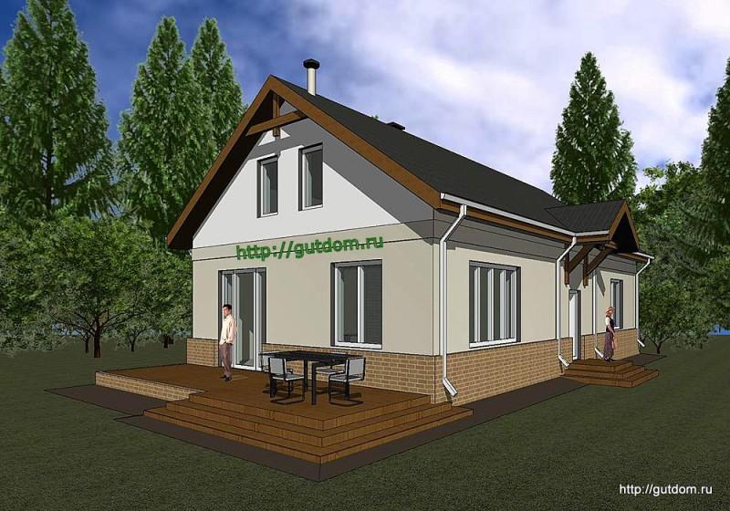 Проект двухэтажного дома площадью 173 м2 Панц26 эскиз 2