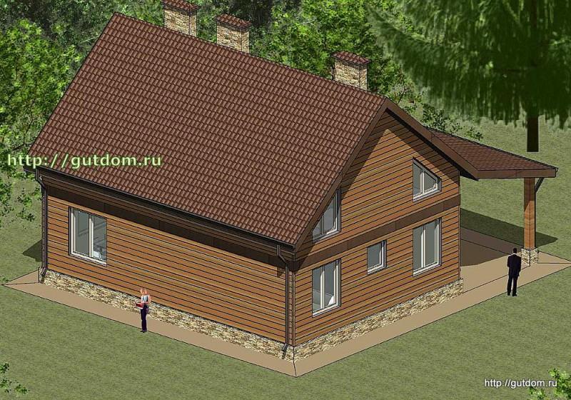Проект каркасного дома площадью 164 м2 Панц30 эскиз 3