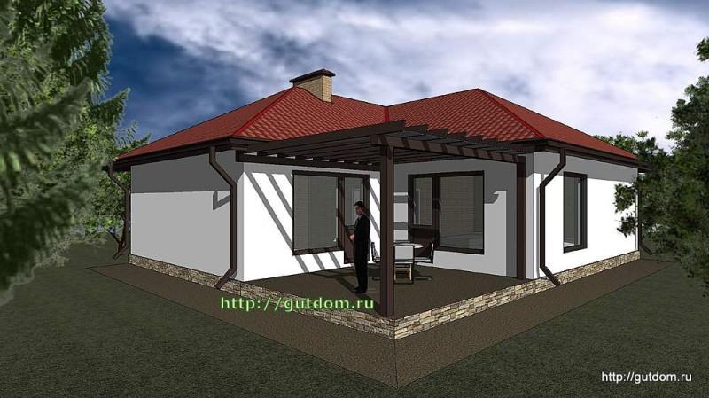 Проект одноэтажного дома площадью 109 м2 Панц35, эскиз 2