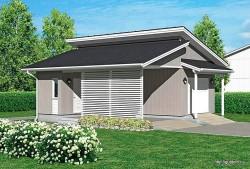 Проект гаража площадью 44 м2 СИП Г2