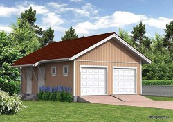 Проект гаража площадью 64 м2 СИП Г1