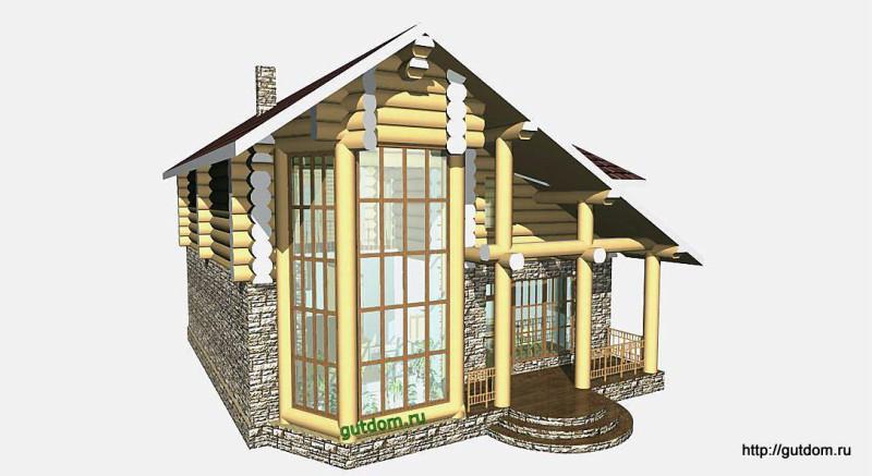 Проект двухэтажного дома площадью 154 м2 Вика7 эскиз 1