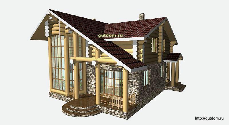 Проект двухэтажного дома площадью 154 м2 Вика7 эскиз 2