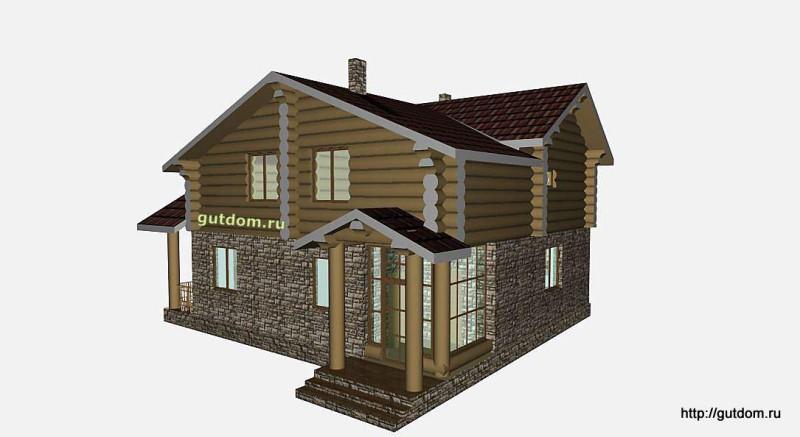 Проект двухэтажного дома площадью 154 м2 Вика7 эскиз 3