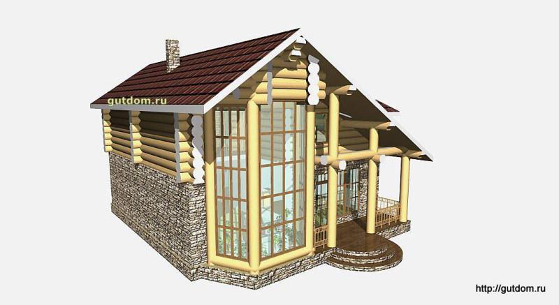 Проект двухэтажного дома площадью 154 м2 Вика7 эскиз 4