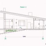 Проект одноэтажного дома из кирпича площадью 184 м2 Влад2