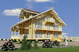 Заказать Проект дома из бревна 275 px