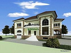 Проект двухэтажного дома Ладо3 из газобетона или кирпича
