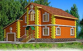 Проект двухэтажного дома из газобетона площадью 227 м2 Ладо4