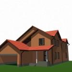 Стропильные конструкции крыши двухэтажного дома, Проект Кир3