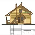 Проект одноэтажного дома с мансардой из бревна 139 м2 Кир8