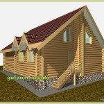 Проект дома с мансардой из бревна Ладо5 площадью 168 м2