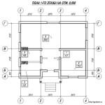 Проект каркасного одноэтажного дома 64 м2 с котельной Бонд6