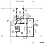 Проект двухэтажного дома с подвалом из газобетона 247 м2 Бонд1