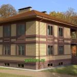 Проект кирпичного двухэтажного дома с подвалом 204 м2 Бонд8