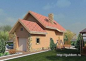 Проект одноэтажного дома с мансардой 121,3 м2 Бонд3, 275