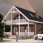 Проект каркасного двухэтажного дома Панц38 площадью 134,6 м2