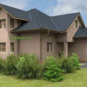 Проект одноэтажного дома с мансардой с гаражом