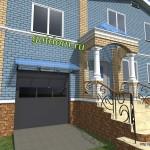 Проект входной группы жилого дома Нижний Новгород вариант 2
