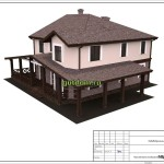 проект дома из блоков 272 м2, эскиз 3