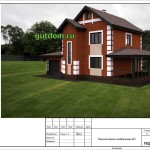 проект дома 172 м2 из сип панелей панц38, 1