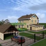 Проект дома с гаражом 215 кв.м Зл9