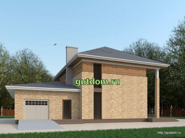 Проект дома 276 м2 с гаражом ЛаДа1
