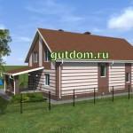 Проект дома 340 кв.м Зл16 для узкого участка