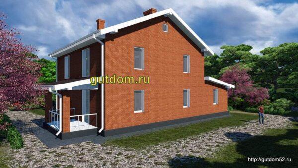 Готовый проект дома с гаражом 187 м2 Ка-45