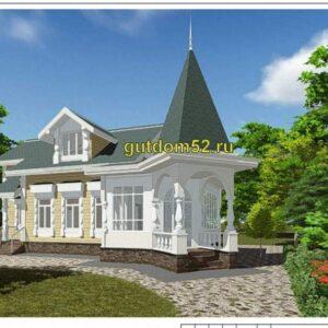 готовый проект дома из бруса
