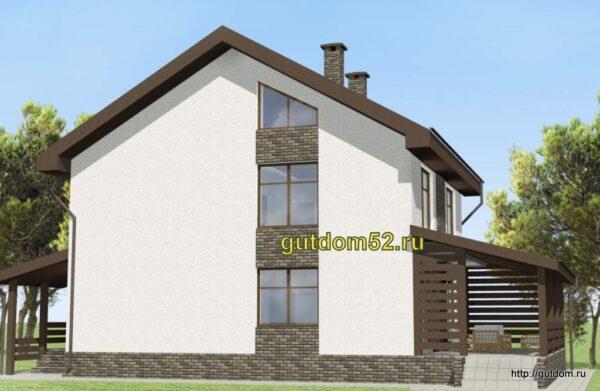 Проект дома площадью 191 кв.м Ладо16-1