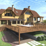 Проект дома площадью 200 м2 ГаП1