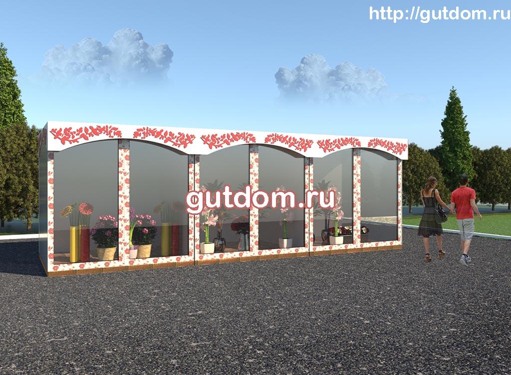 Форэскизный проект цветочных палаток ГаП40