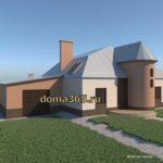 Дизайн фасада дома ГаП44